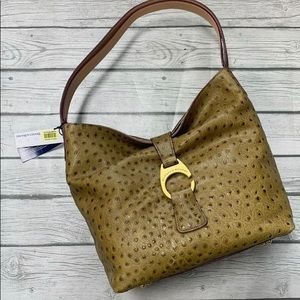 NWT🏷Dooney & Bourke Ostrich Embossed Leather Bag
